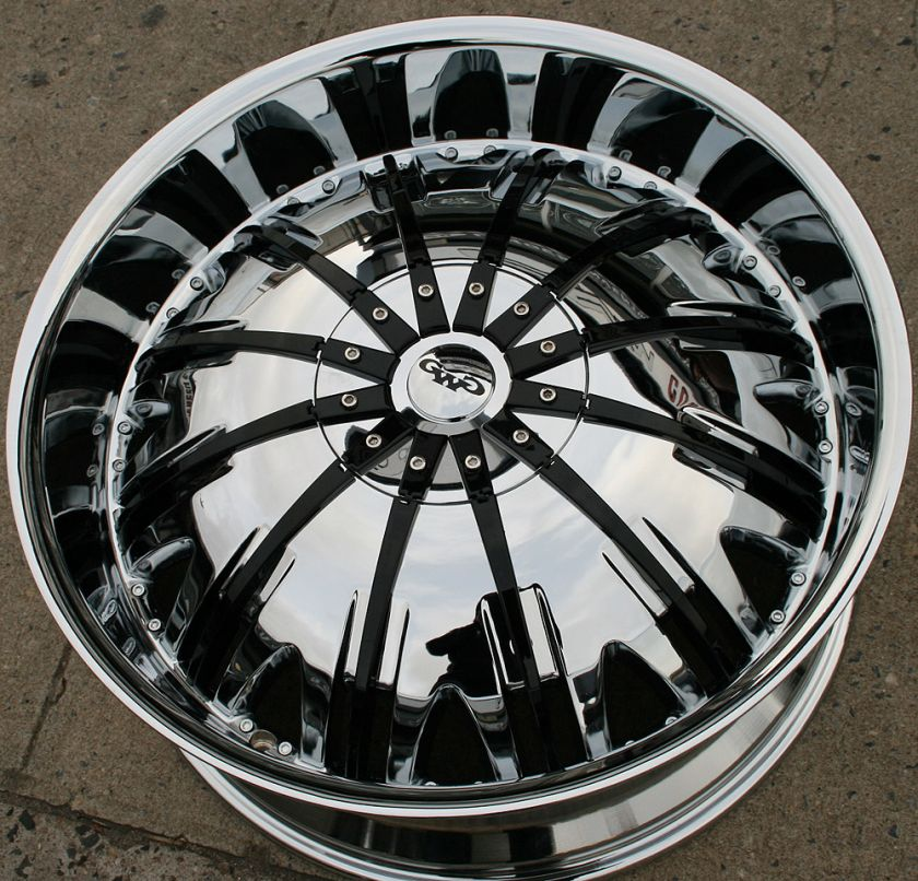 GWG GENESIS G25 24 CHROME RIMS WHEELS DODGE MAGNUM RT BASE